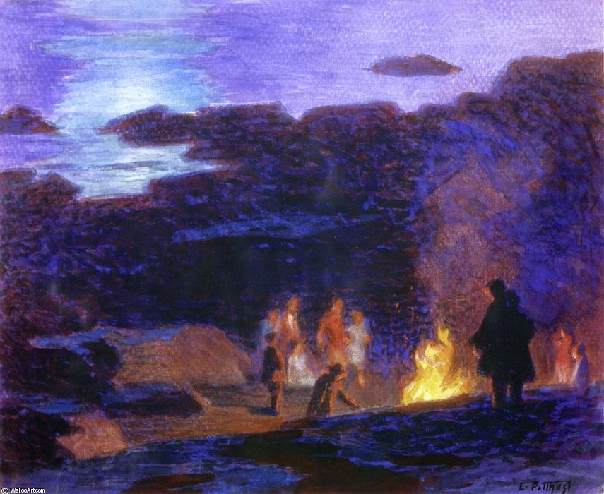 famous painting Campfire of Edward Henry Potthast