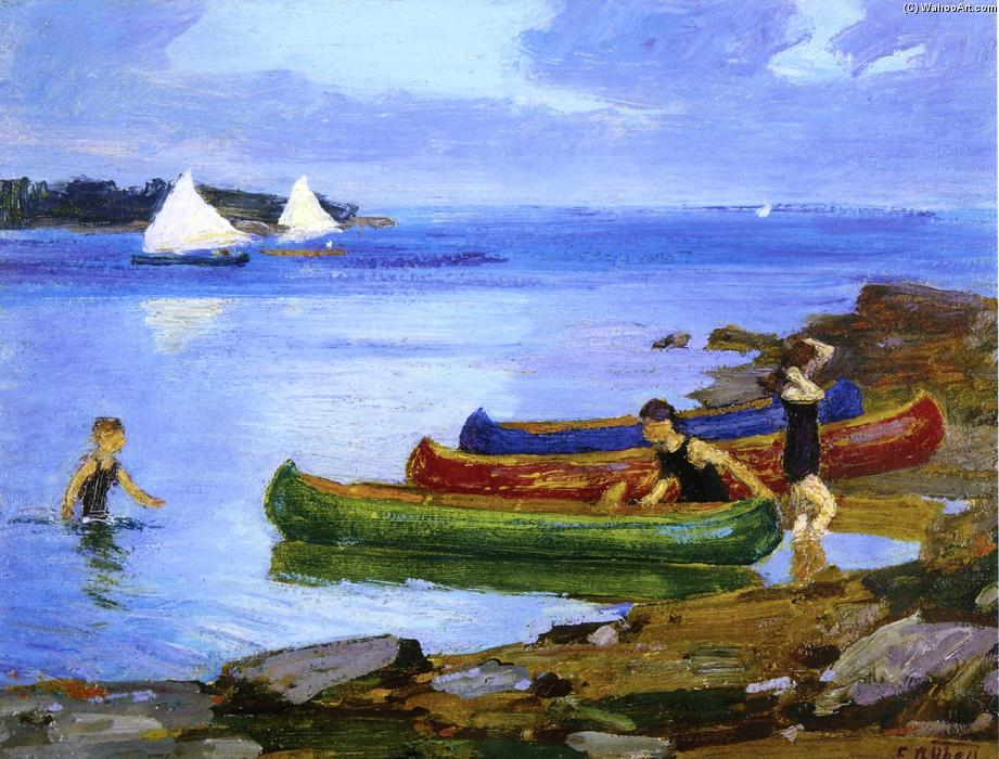 famous painting Canoeing of Edward Henry Potthast