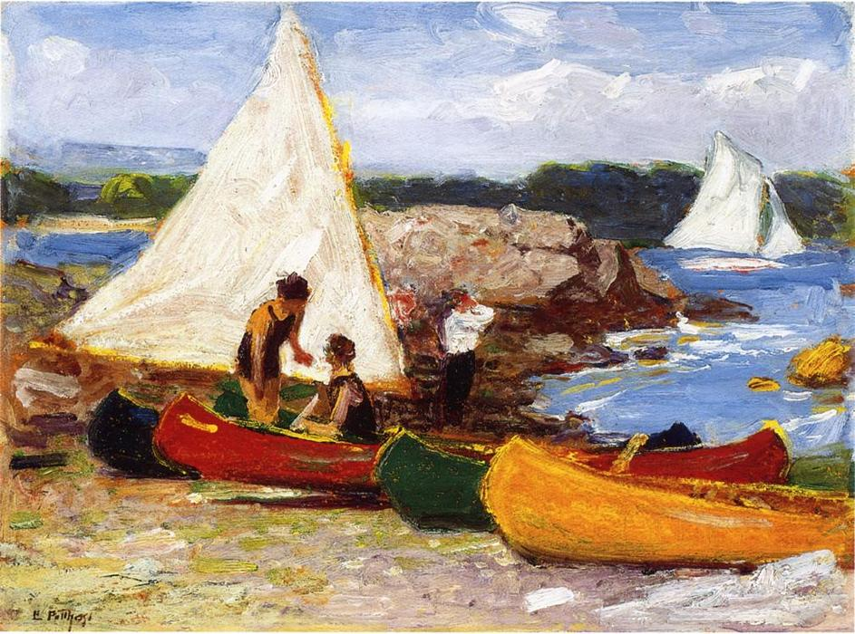 famous painting Canoes and Sailboats of Edward Henry Potthast