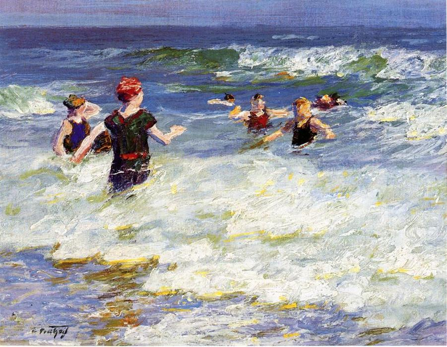 famous painting In the Surf 2 of Edward Henry Potthast