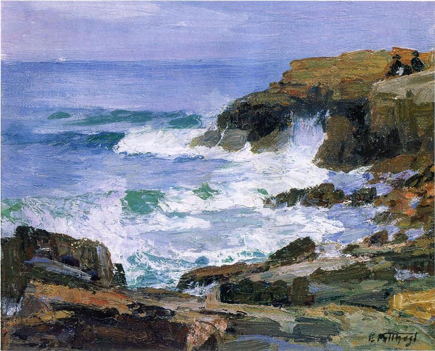 famous painting Looking out to Sea of Edward Henry Potthast