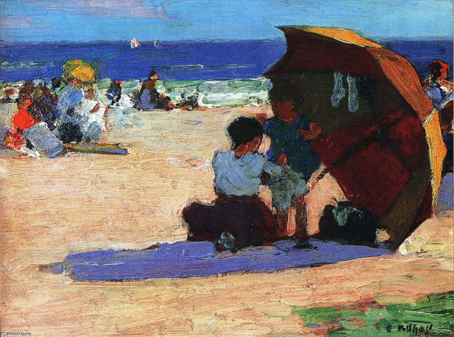 famous painting Making Repairs of Edward Henry Potthast