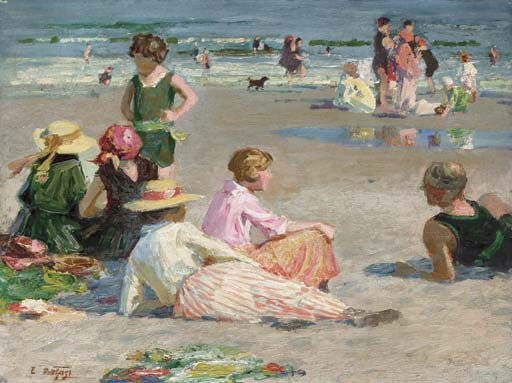famous painting Manhattan Beach of Edward Henry Potthast