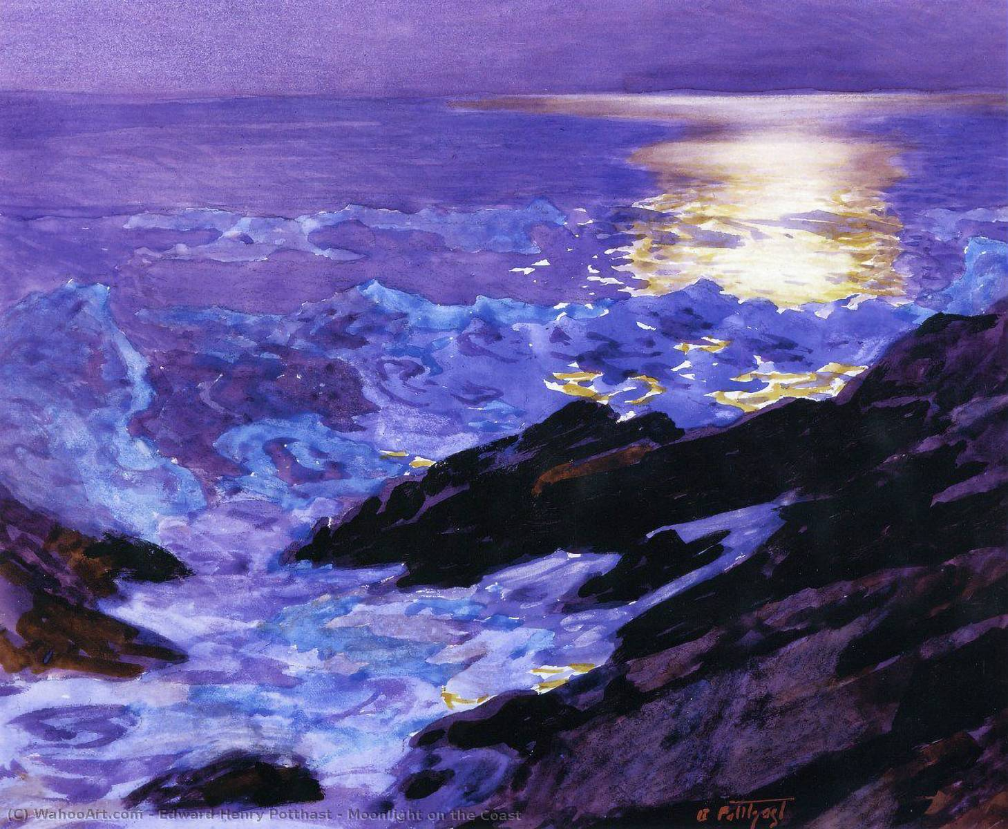 famous painting Moonlight on the Coast of Edward Henry Potthast