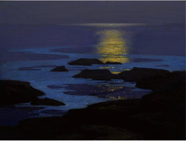 famous painting Moonlight, The Coast Of Maine of Edward Henry Potthast