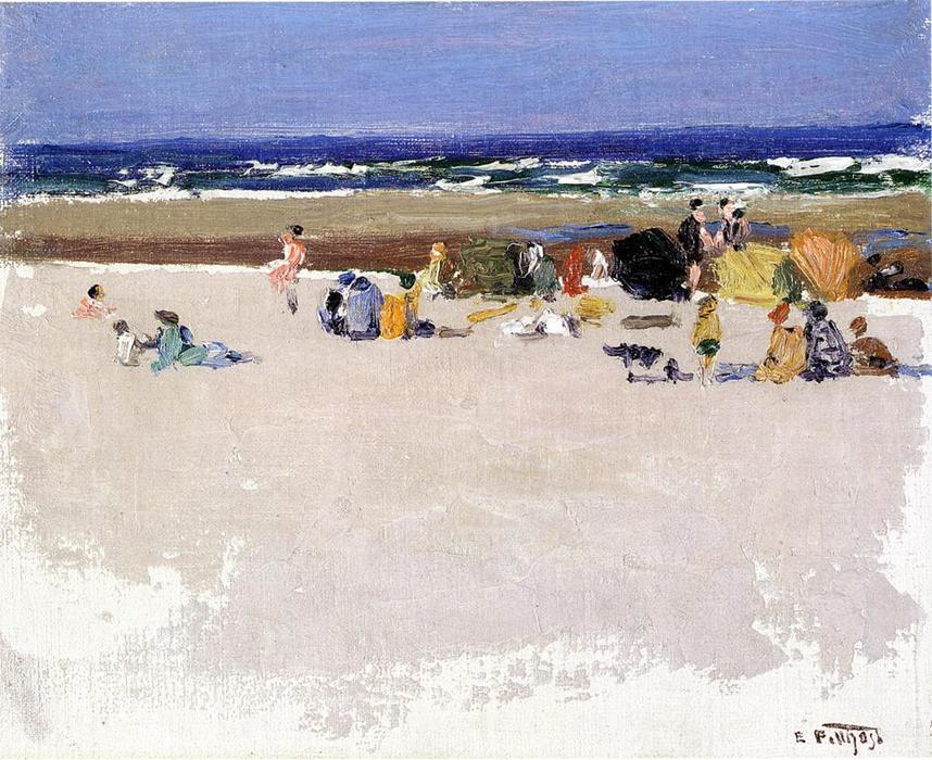 famous painting On the Beach 1 of Edward Henry Potthast