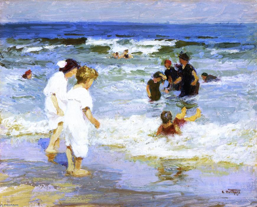 famous painting Playing in the Water of Edward Henry Potthast