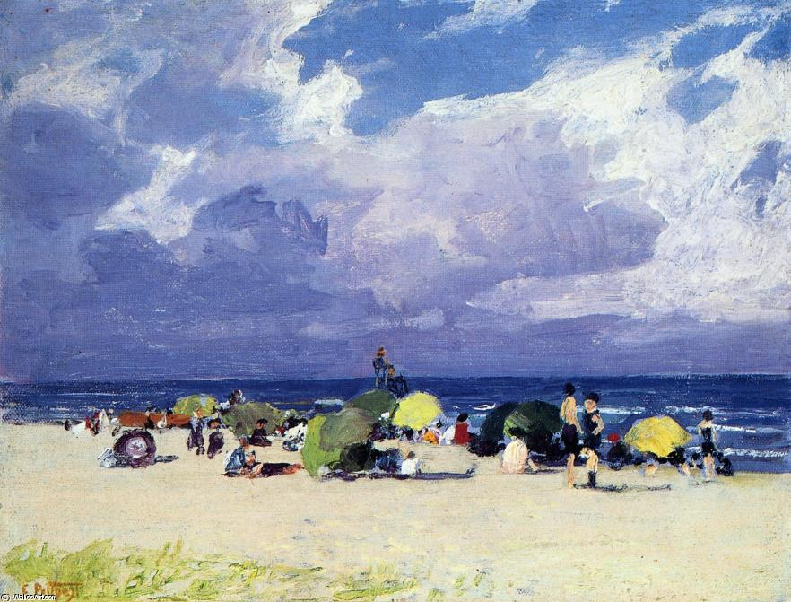 famous painting Purple Beach Scene of Edward Henry Potthast