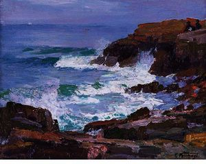 Edward Henry Potthast - Rocky Cliffs