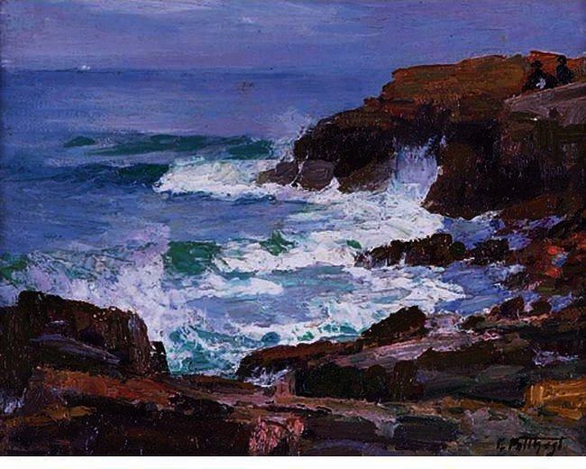 famous painting Rocky Cliffs of Edward Henry Potthast
