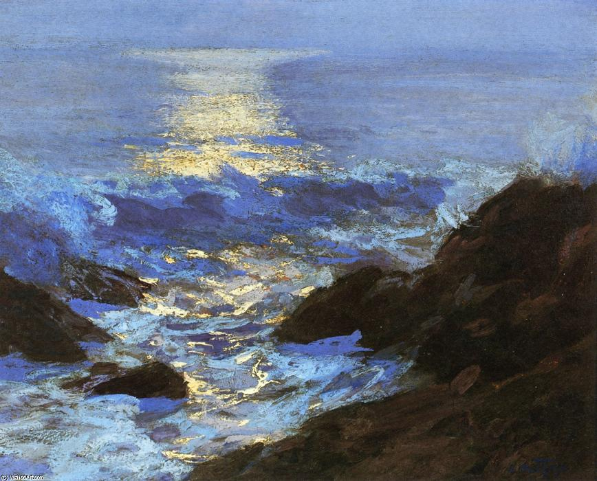 famous painting Seascape Moonlight of Edward Henry Potthast