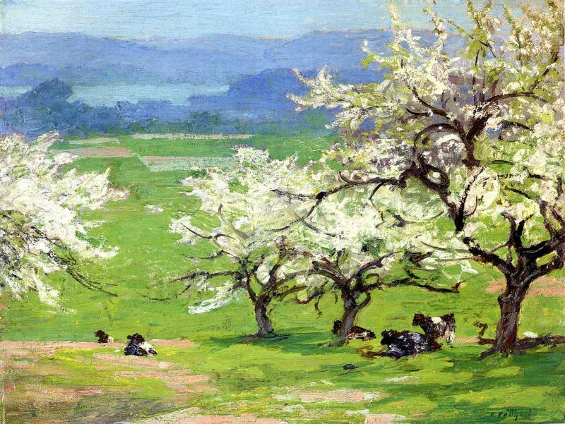 famous painting Springtime of Edward Henry Potthast
