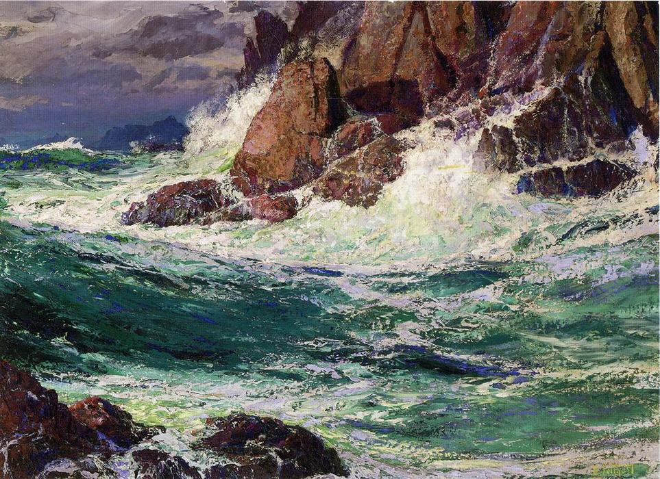famous painting Stormy Seas of Edward Henry Potthast