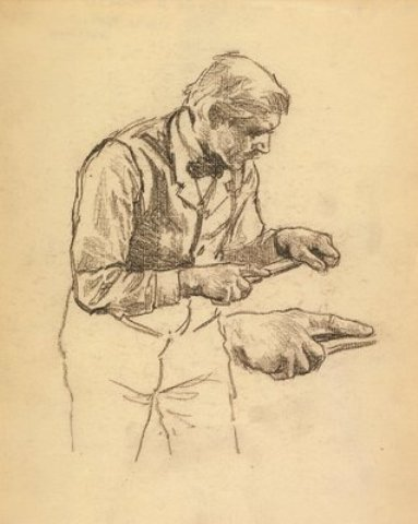 famous painting Study of a Man of Edward Henry Potthast