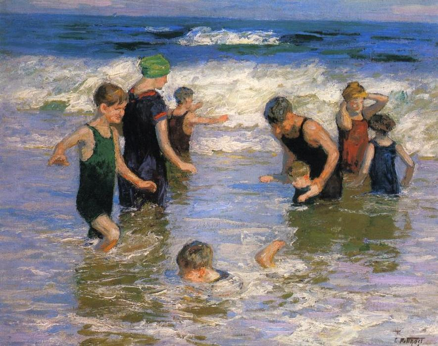 famous painting The Bathers of Edward Henry Potthast