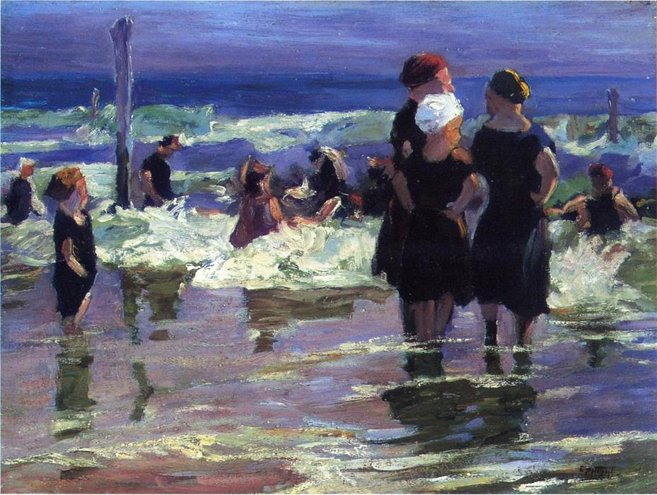famous painting The Gossips of Edward Henry Potthast