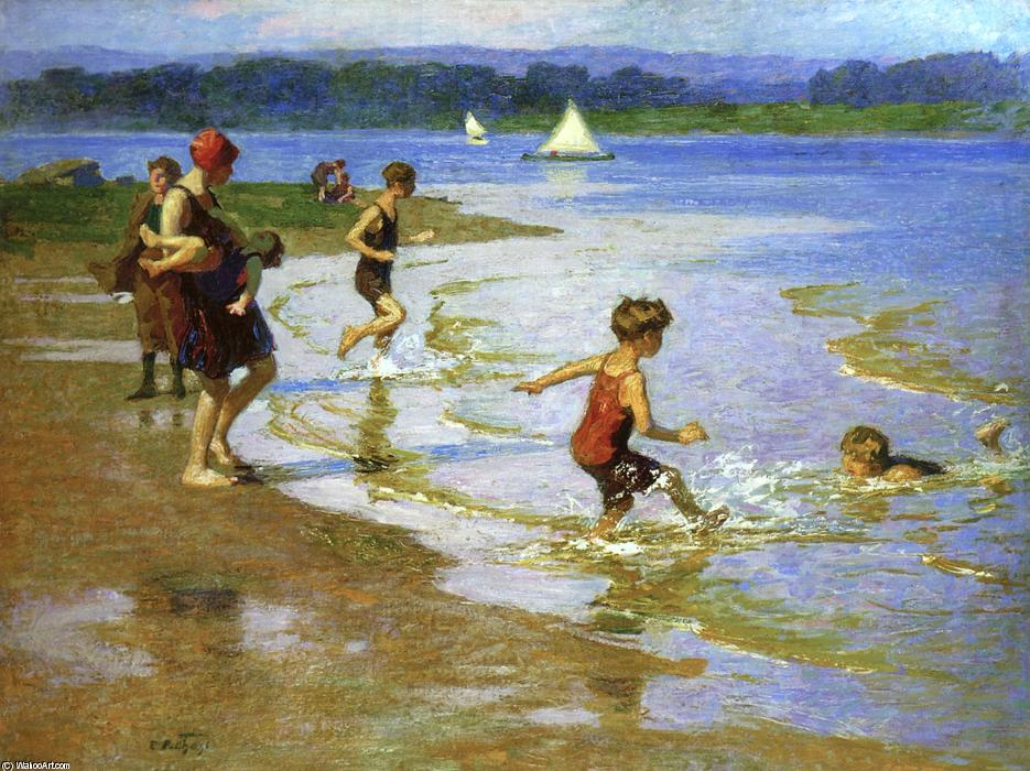famous painting Young Bathers 1 of Edward Henry Potthast