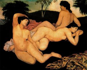 Emile Bernard - After the Bath, the Nymphs