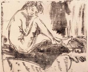 Ernst Ludwig Kirchner - Sitting nude