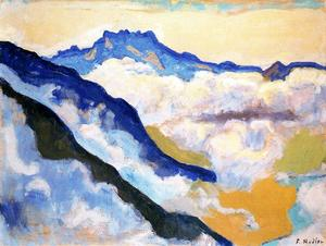 Ferdinand Hodler - The Dents du Midi seen from Caux