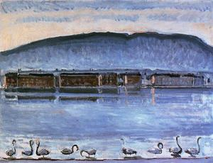 Ferdinand Hodler - The Salève seen from the Quai du Mont-Blanc
