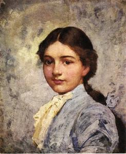 Frank Duveneck - Girl in Blue Blouse