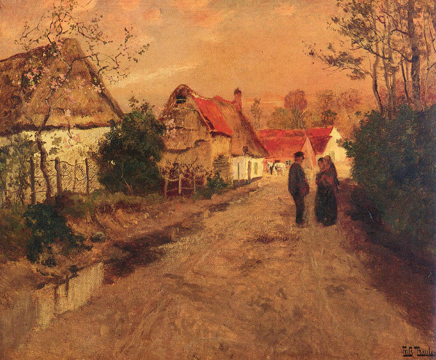 famous painting Arques­La­Bataille, Normandie of Frits Thaulow