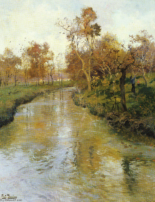 famous painting Autumn of Frits Thaulow