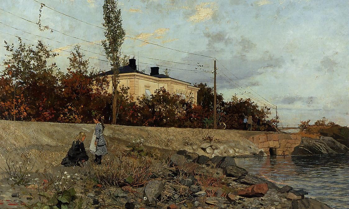 famous painting Evening at the Bay of Frogner of Frits Thaulow
