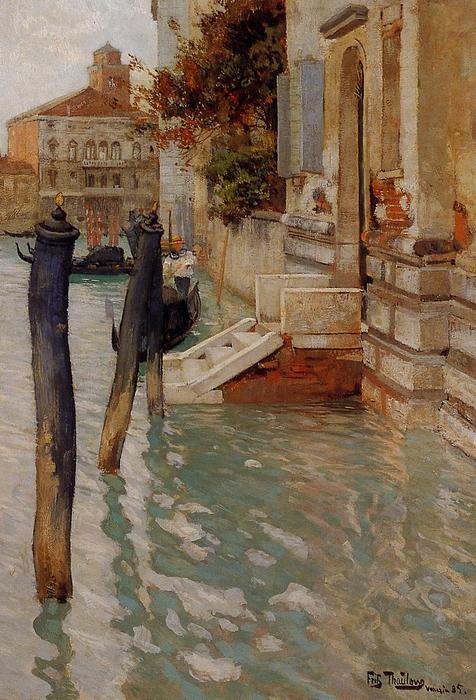 famous painting On the Grand Canal, Venice of Frits Thaulow