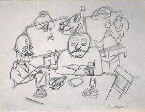 George Grosz - At Simsen's