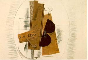 Georges Braque - Violin and Pipe, 'Le Quotidien'