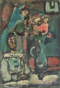 Georges Rouault - Pierrot with bouquet
