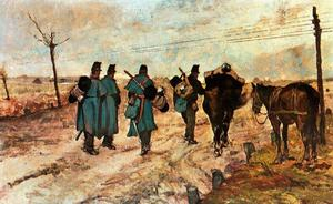 Giovanni Fattori - Marching soldiers