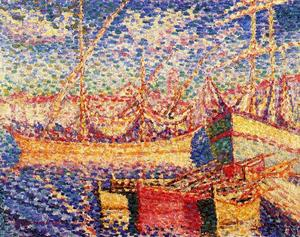 Henri Edmond Cross - Boats in the Port of St. Tropez