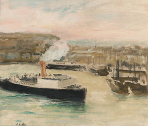 Jacques-Emile Blanche - Arrival of the Pacquet Boat, Dieppe