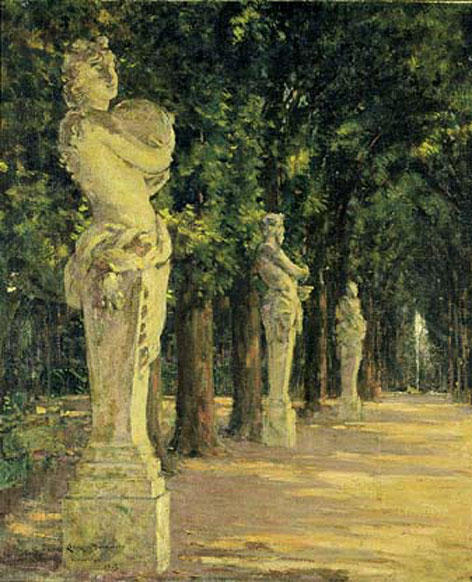 famous painting Allee de l'Ete, Versailles of James Carroll Beckwith