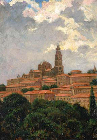famous painting Cathedral at le Puy of James Carroll Beckwith
