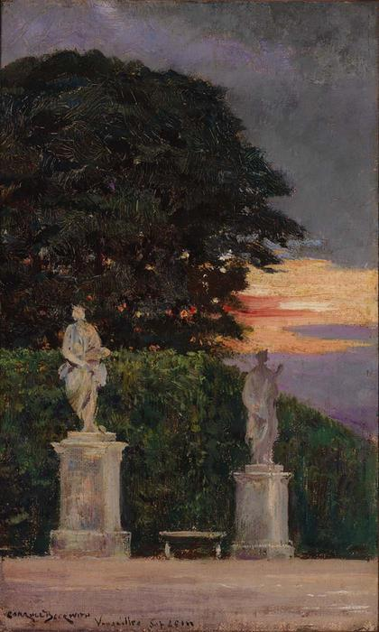 famous painting Corner of the Terrace, Versailles of James Carroll Beckwith