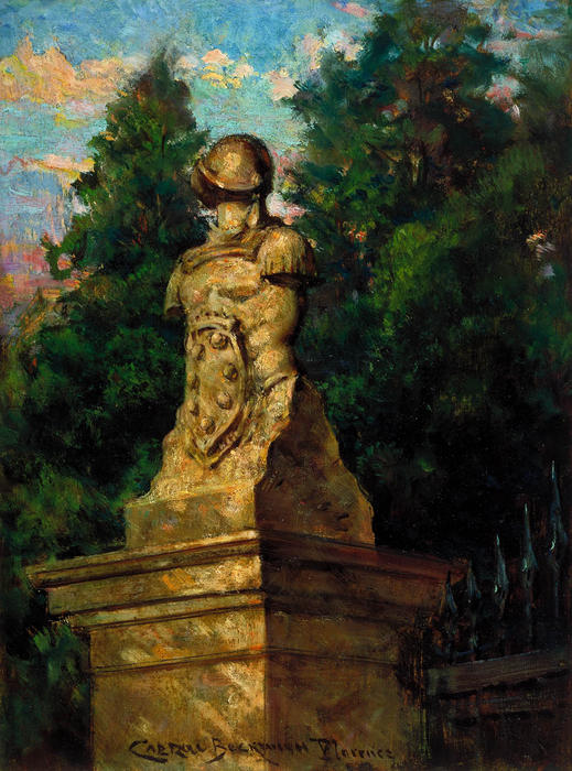 famous painting Modigliani Gate Post of James Carroll Beckwith
