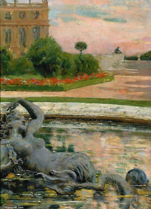 famous painting Parterre du Nord, Fontaine des Sirenes of James Carroll Beckwith