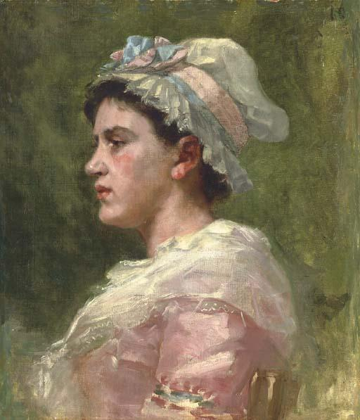 famous painting Portrait of a Woman of James Carroll Beckwith