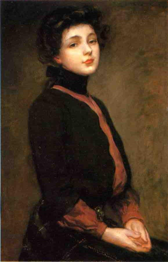 famous painting Portrait of Evelyn Nesbitt 1 of James Carroll Beckwith
