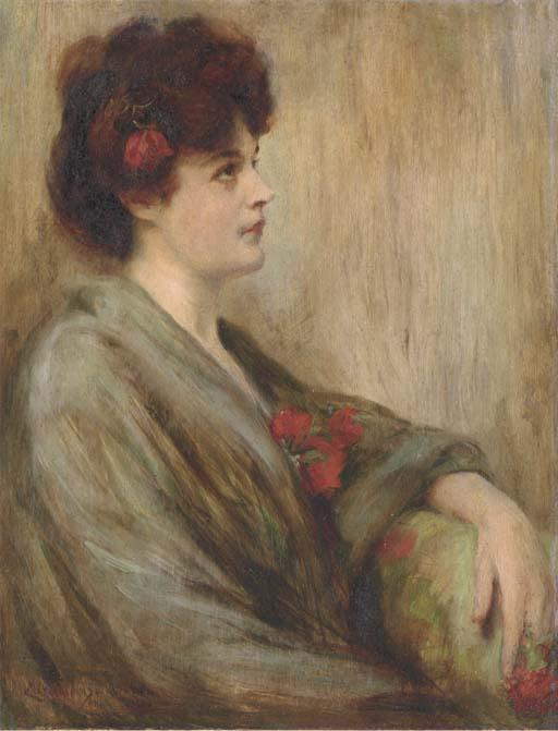 famous painting Portrait of Lida Rose McCabe of James Carroll Beckwith