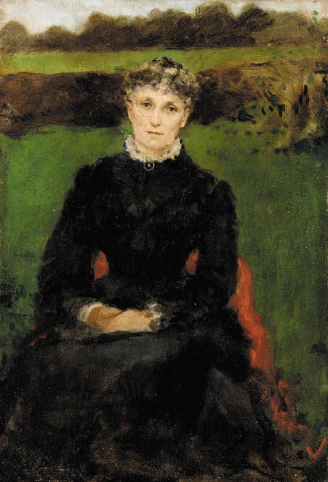 famous painting Portrait of the Artist's Mother of James Carroll Beckwith