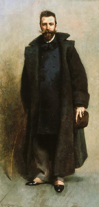 famous painting Portrait of William Merritt Chase of James Carroll Beckwith