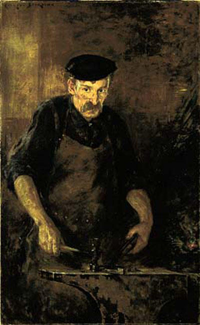 famous painting The Blacksmith of James Carroll Beckwith