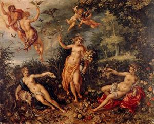 Jan Brueghel The Elder - The abundance and the four elements