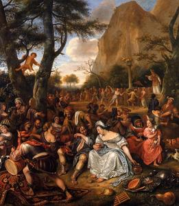Jan Steen - The Worship of the Golden Calf