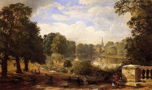 Jasper Francis Cropsey - The Serptentine, Hyde Park, London